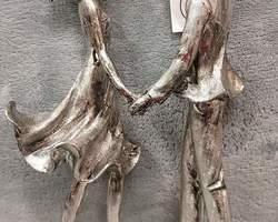 Article 0098 Couple cœur argenté