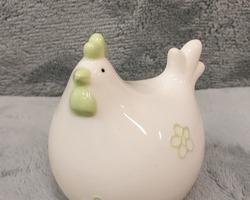 0012 Poule fleur verte pt