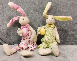 0014 Couple lapin peluche