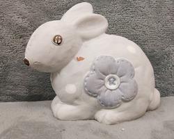 0018 Lapin blanc violet