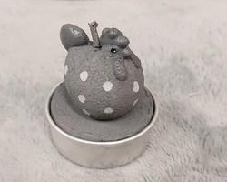 0002 Bougie poule (gris)