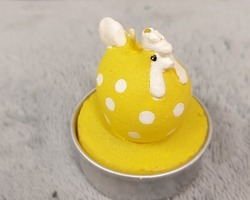 0003 Bougie poule (jaune)