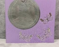0004 vase carré violet papillon
