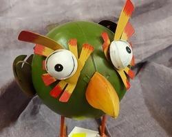 0004 Oiseau à ressort (vert)