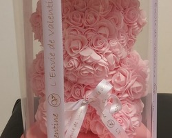 Article 0035 Ours rose (boite ronde)