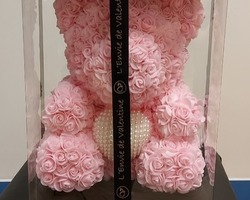 Article 0039 Grand ours rose (coussin perles)