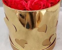 Article 0052 Boite à fleurs dorée