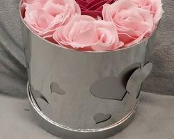 Article 0053 Boite à fleurs argentée