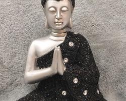 Article 0009 bouddha noir et argenté
