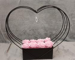 Article 0025 Vase noir garni Gd