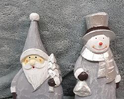 Article 0070 Père Noël + bonhomme de neige