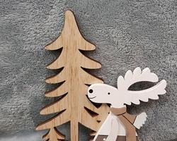 Article 0213 Bougeoir en bois