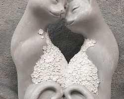 Article 0022 Couple chat gris/blanc