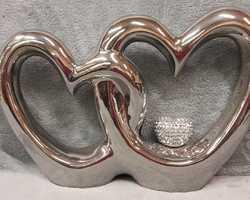 Article 0025 Triple cœur argenté