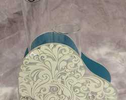 Article 0058 Vase double tube blanc