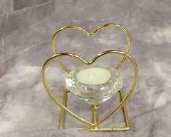 Article 0059 Bougeoir cœur diamant