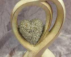 Article 0071 Couple cœur doré